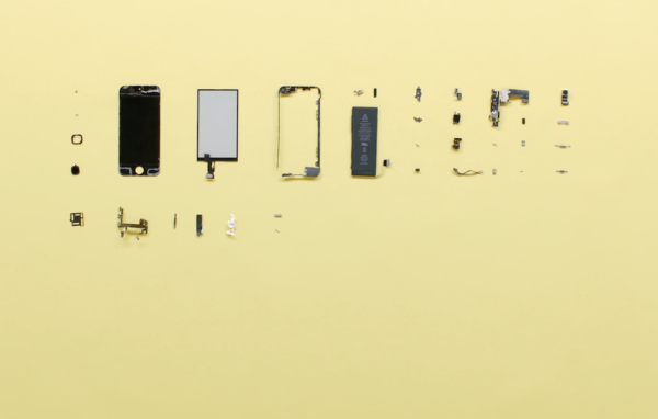Still from Ore Streams video showing parts of electornic devices, Formafantasma, 2017-2019