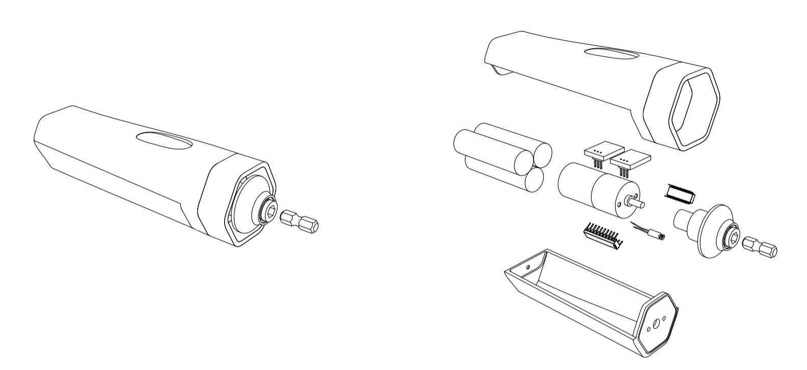 Exploded sketch of the Modular Motor.