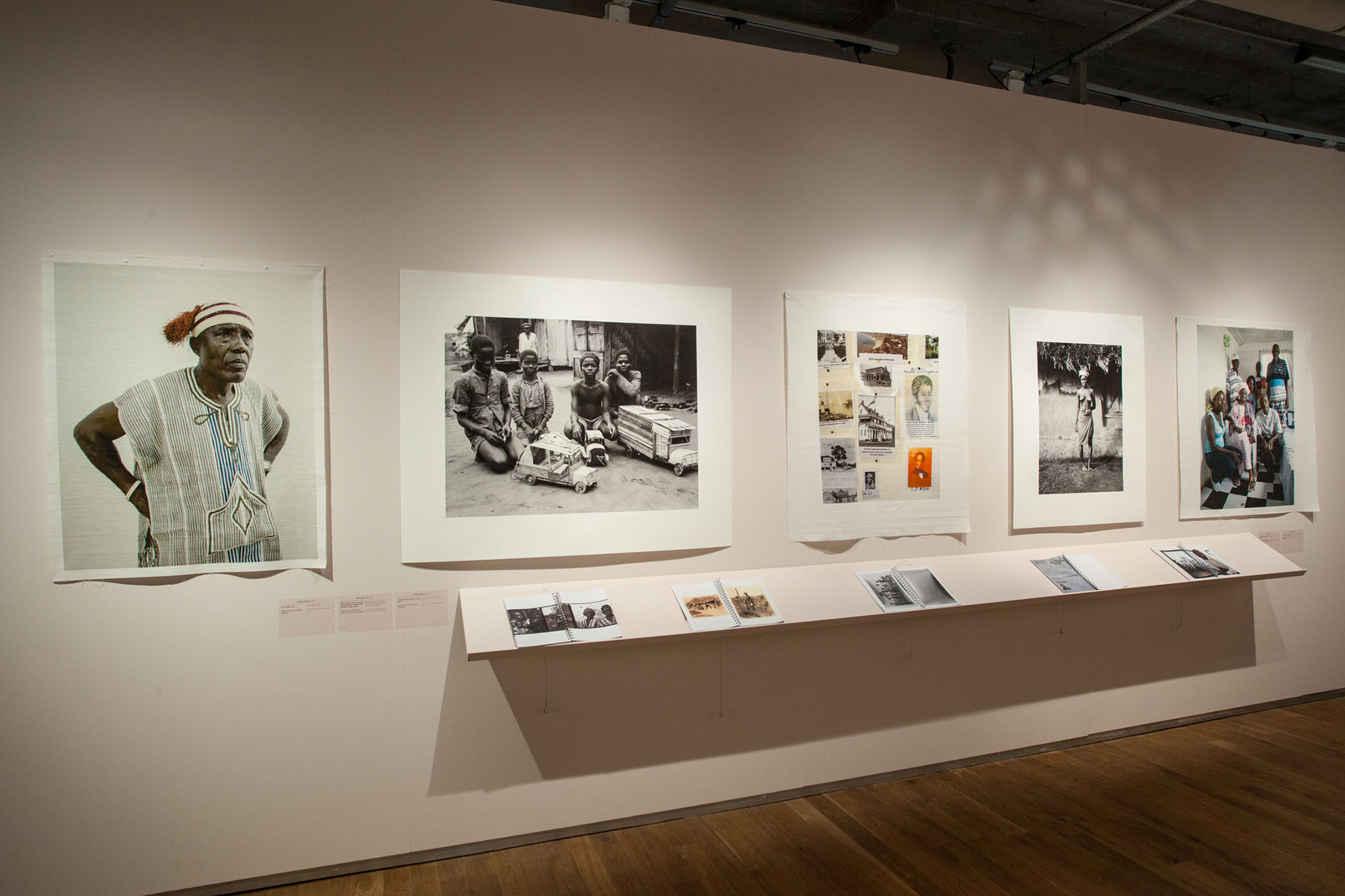 A wall devoted to Liberia at the group exhibition 'The Mix' in the Nederlands Fotomuseum in Rotterdam, 2018