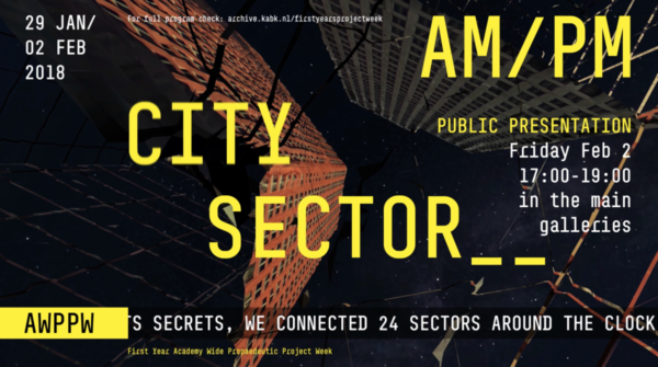 Screen shot CITY SECTOR AM__PM, final presntation propaedeutic project week
