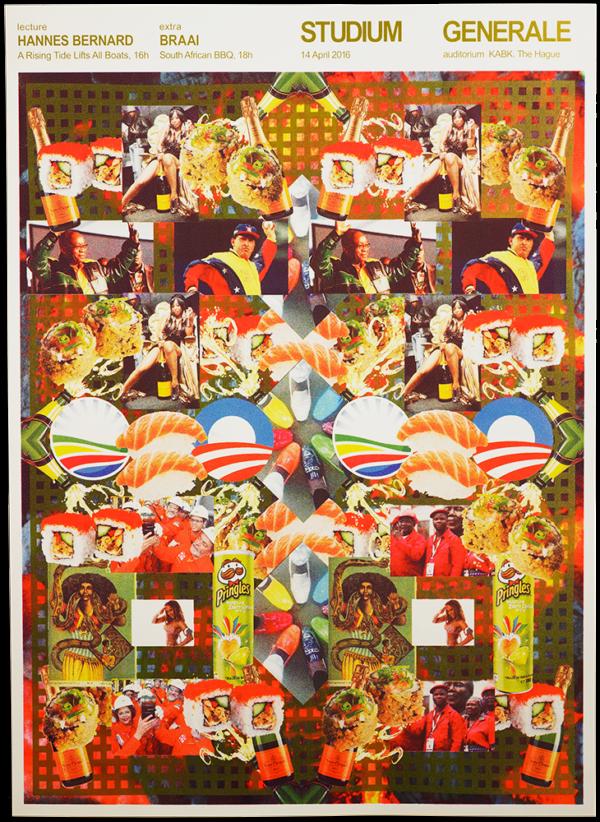 KABK Studium Generale lecture Hannes Bernard, poster design by poster design by Gilles de Brock
