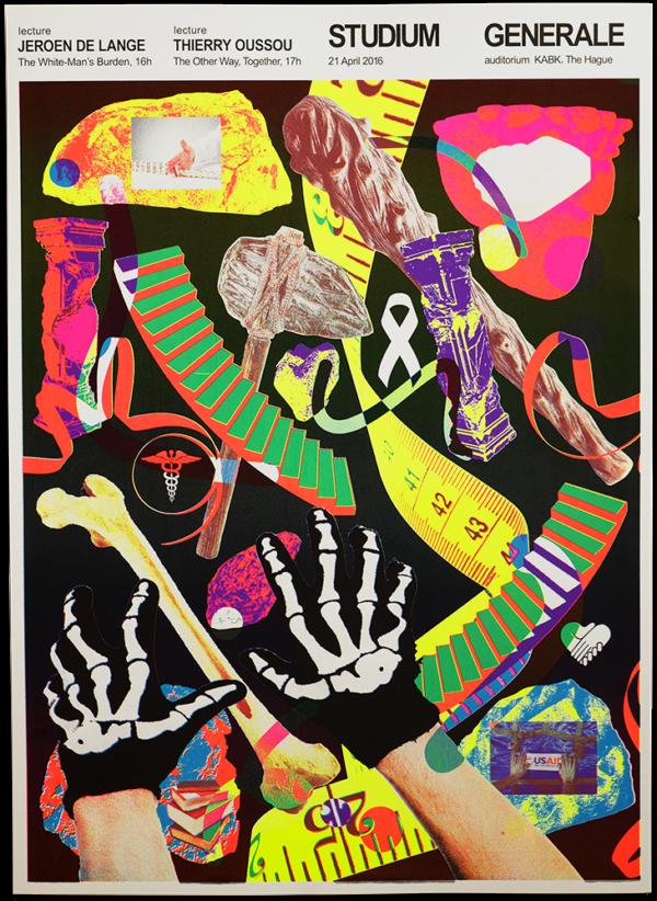 KABK Studium Generale lecture Jeroen de Lange, poster design by Gilles de Brock