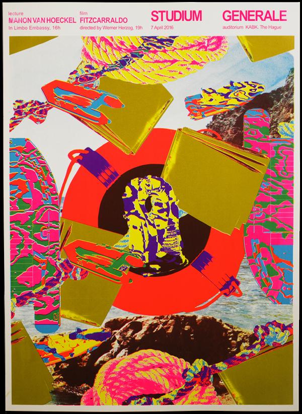KABK Studium Generale lecture Manon van Hoeckel, poster design by Gilles de Brock