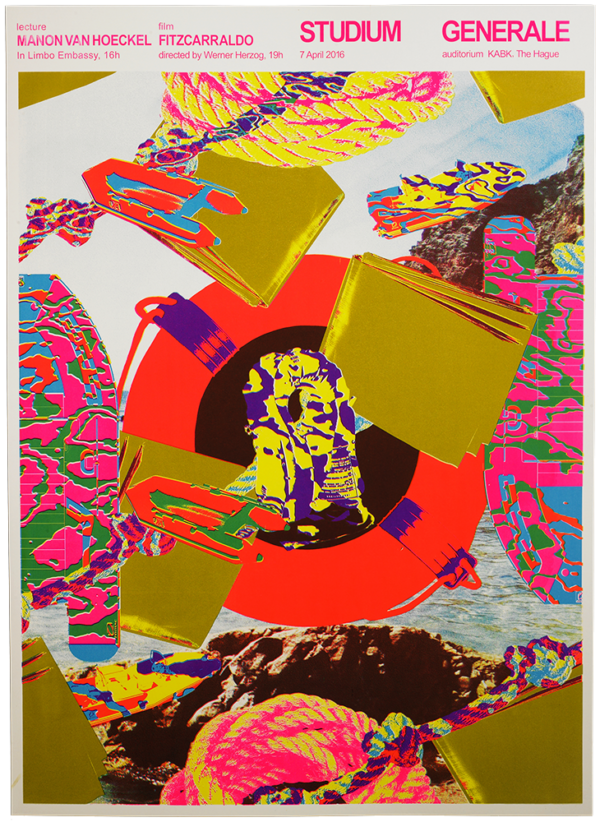 KABK Studium Generale lecture Manon van Hoeckel, poster design by poster design by Gilles de Brock
