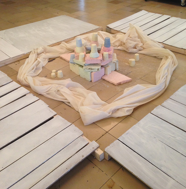 Installation by Fine Arts students for the Studium Generale lecture given by Petra Noordkamp