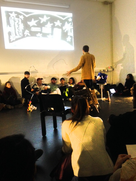 Performance during the Studium Generale lecture 'It's in the Air' by David Bernstein on Thursday 1 December 2016