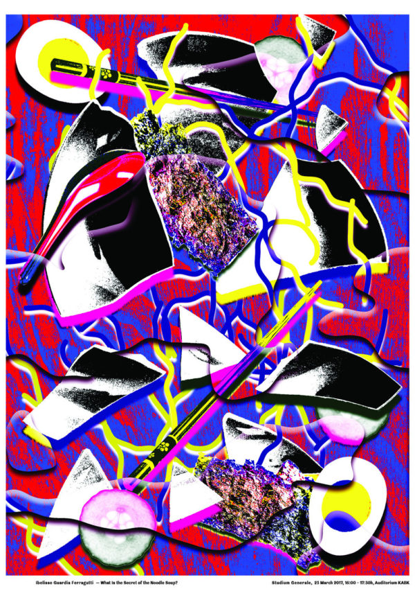 KABK Studium Generale lecture Ibelisse Guardia Ferragutti, poster design by Gilles de Brock