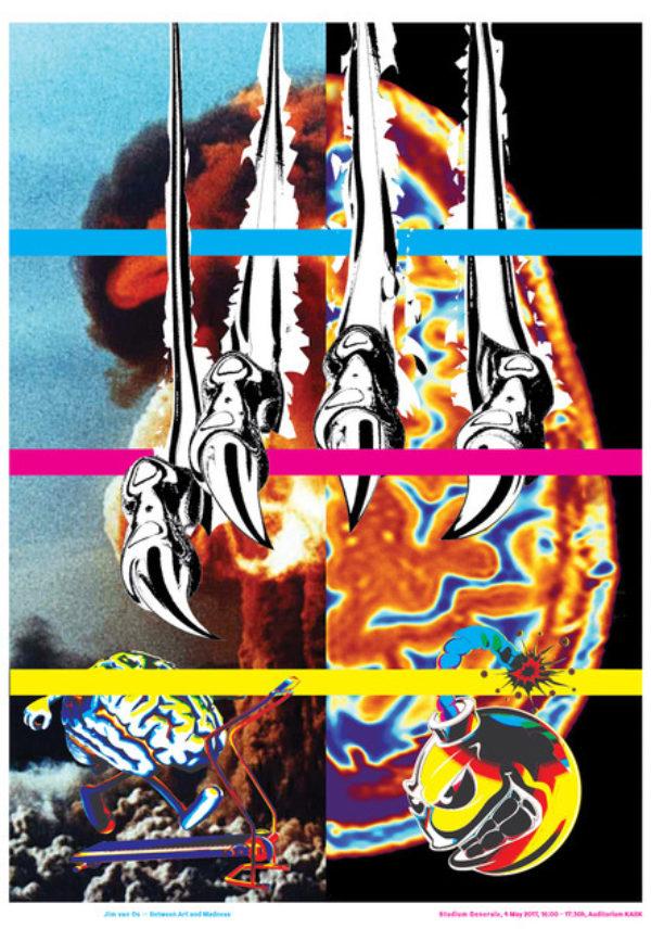 KABK Studium Generale lecture Jim van Os, poster design by Gilles de Brock