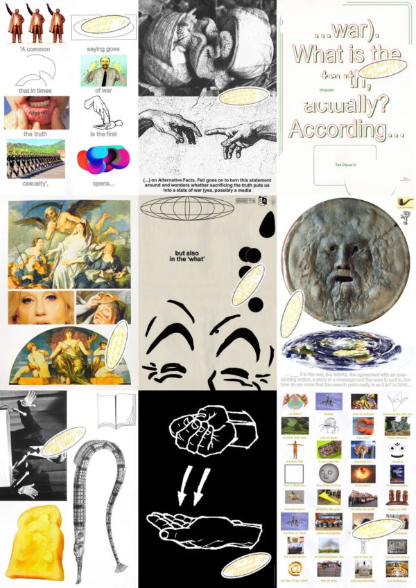 collage with KABK Studium Generale posters 1st semenster Transmission Lexicon series