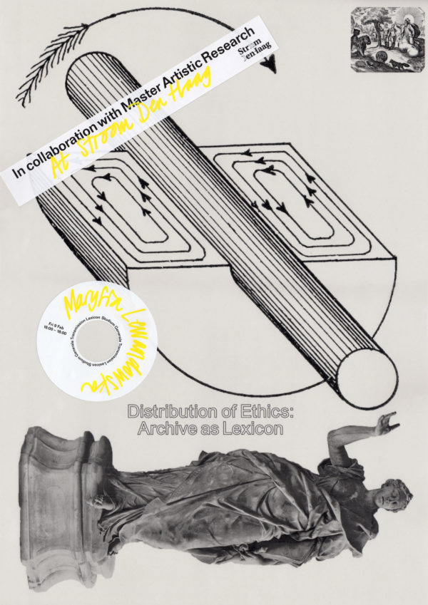 poster for the KABK Studium Generale lecture by Maysia Lewandowska