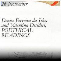 Online Studium Generale lecture - Denise Ferreira da Silva & Valentina Desideri