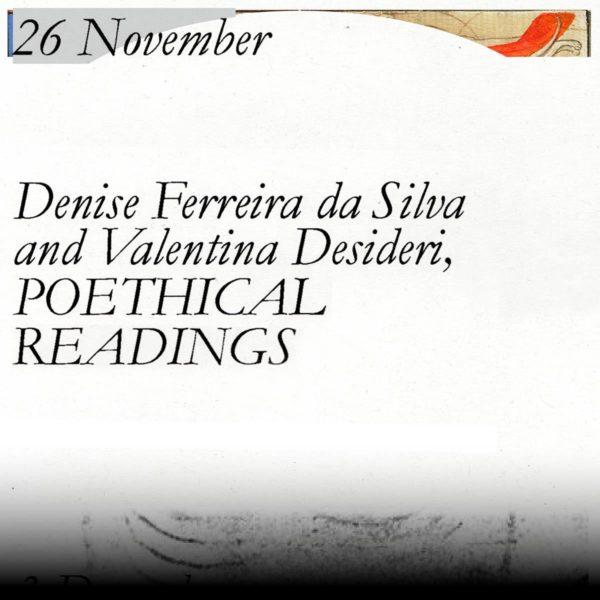 Wztch Craft lecture by Denise Ferreira da Silva & Valentina Desideri