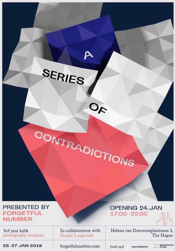 poster for the exhibition A Series of Contradictions