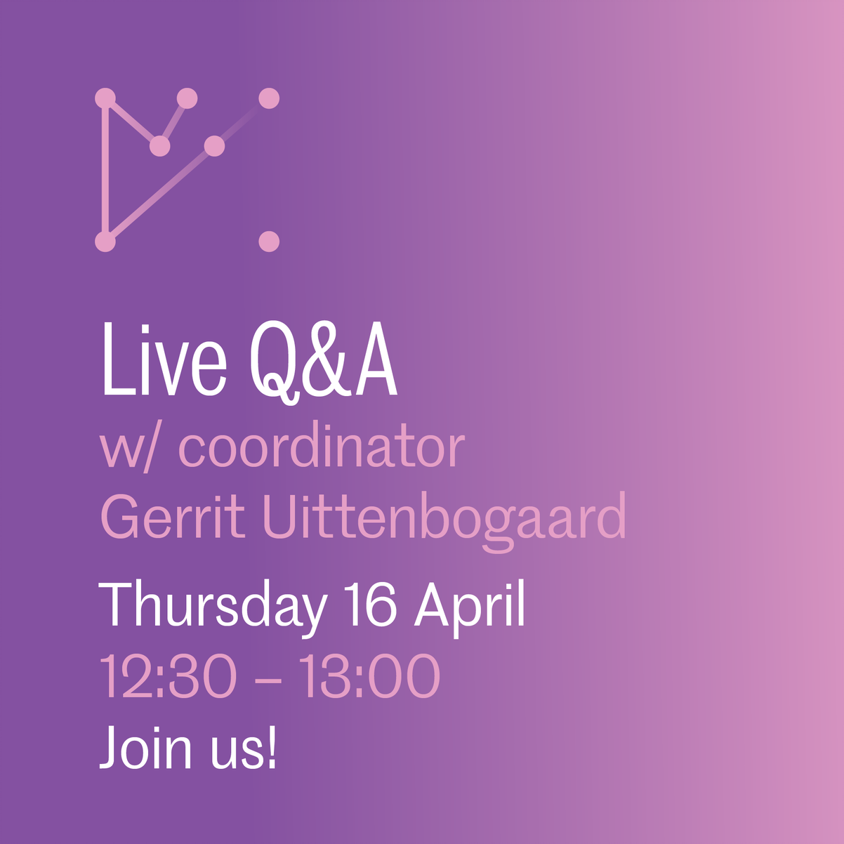 Live Q&A Textiel en Mode op 16 april 2020