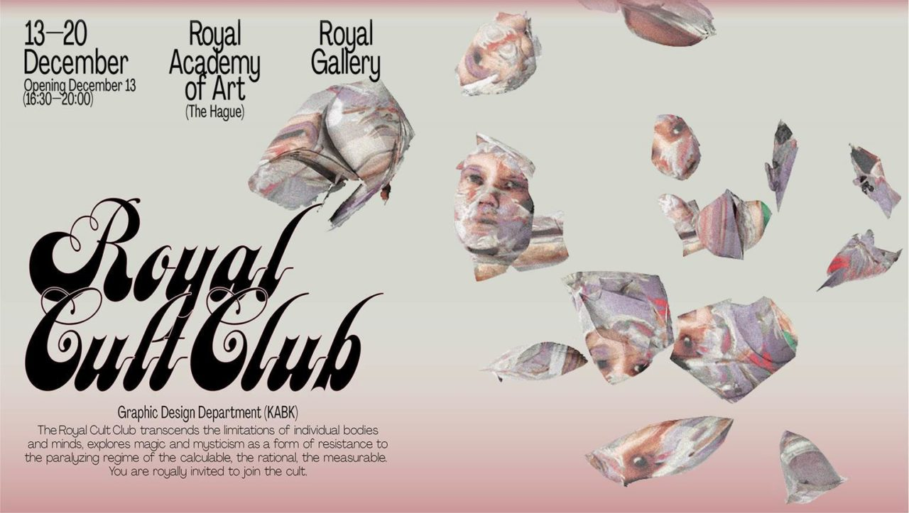 Royal Cult Club exhibition banner