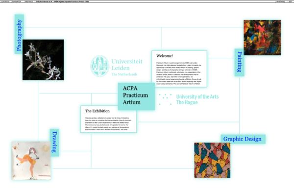 Screenshot ACPA digital exhibition