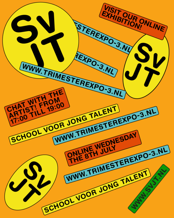poster school voor jong talent trimester expo July 2020