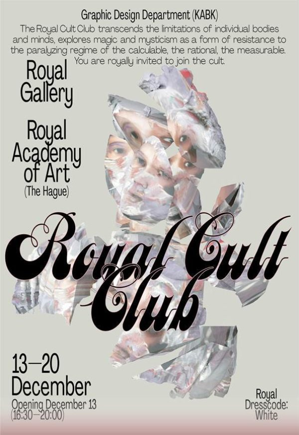 poster for the KABK Graphic Design exhibition The Royal Cult Club
