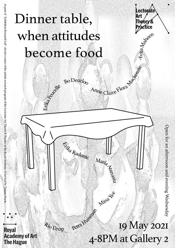 Poster exhibition: Dinner table, when attitudes become food