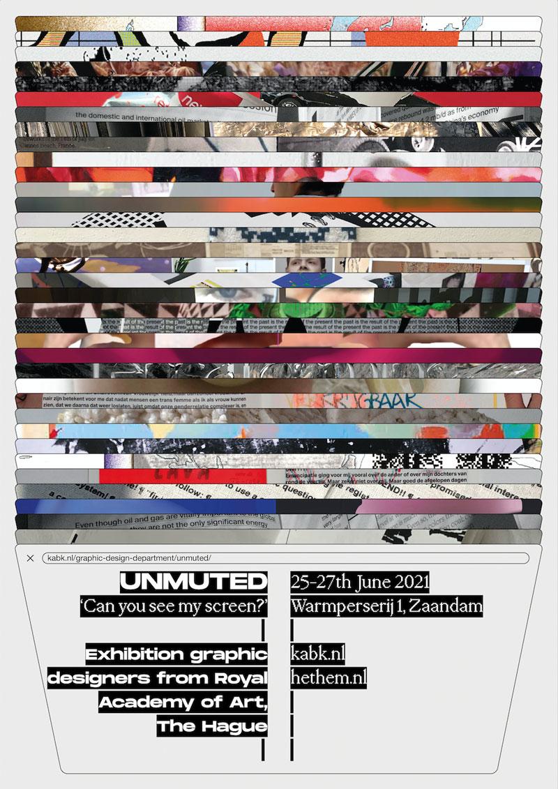 poster UNMUTED Graphic Design (expo in Het HEM)