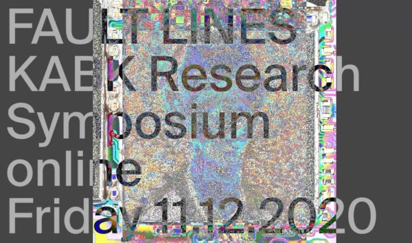 Fault Lines KABK Research Symposium 2020 screenshot identity design