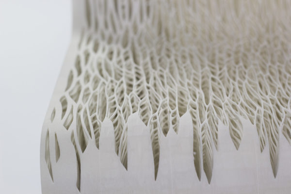 KABK graduation project Lilian van Daal detail Biomimicry; 3D Printed soft seat (2014)