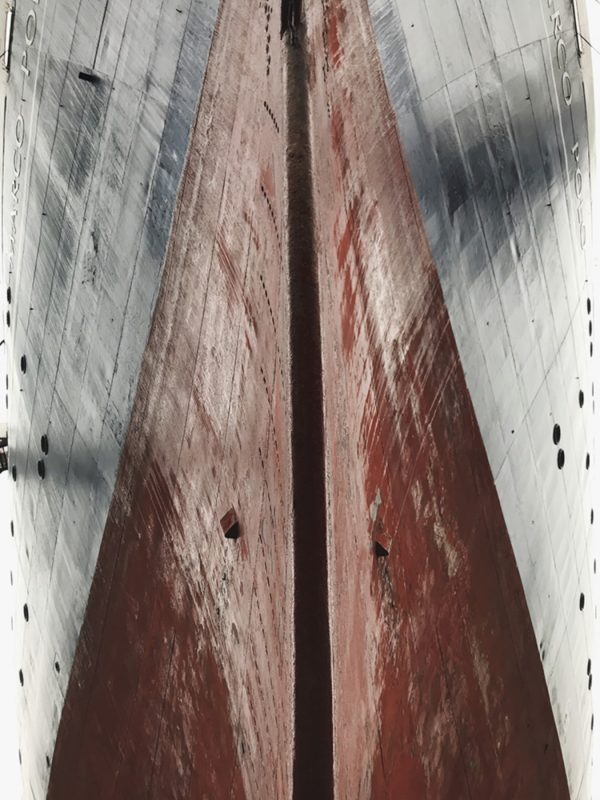 Close up of a ships' bow