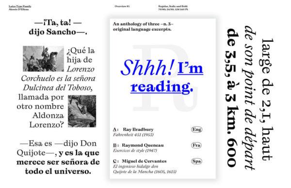 Laica typeface by alumnus Type Media 2016 Alessio D' Ellena