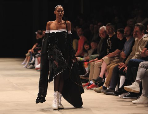 collection 'A Woman is a Void' by 2nd year student Hanakin Henriksson - KABK Fashion Show 2018