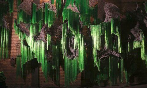 Installation view PLUIS by Joana Schneider, KABK textile and fashion graduate 2018