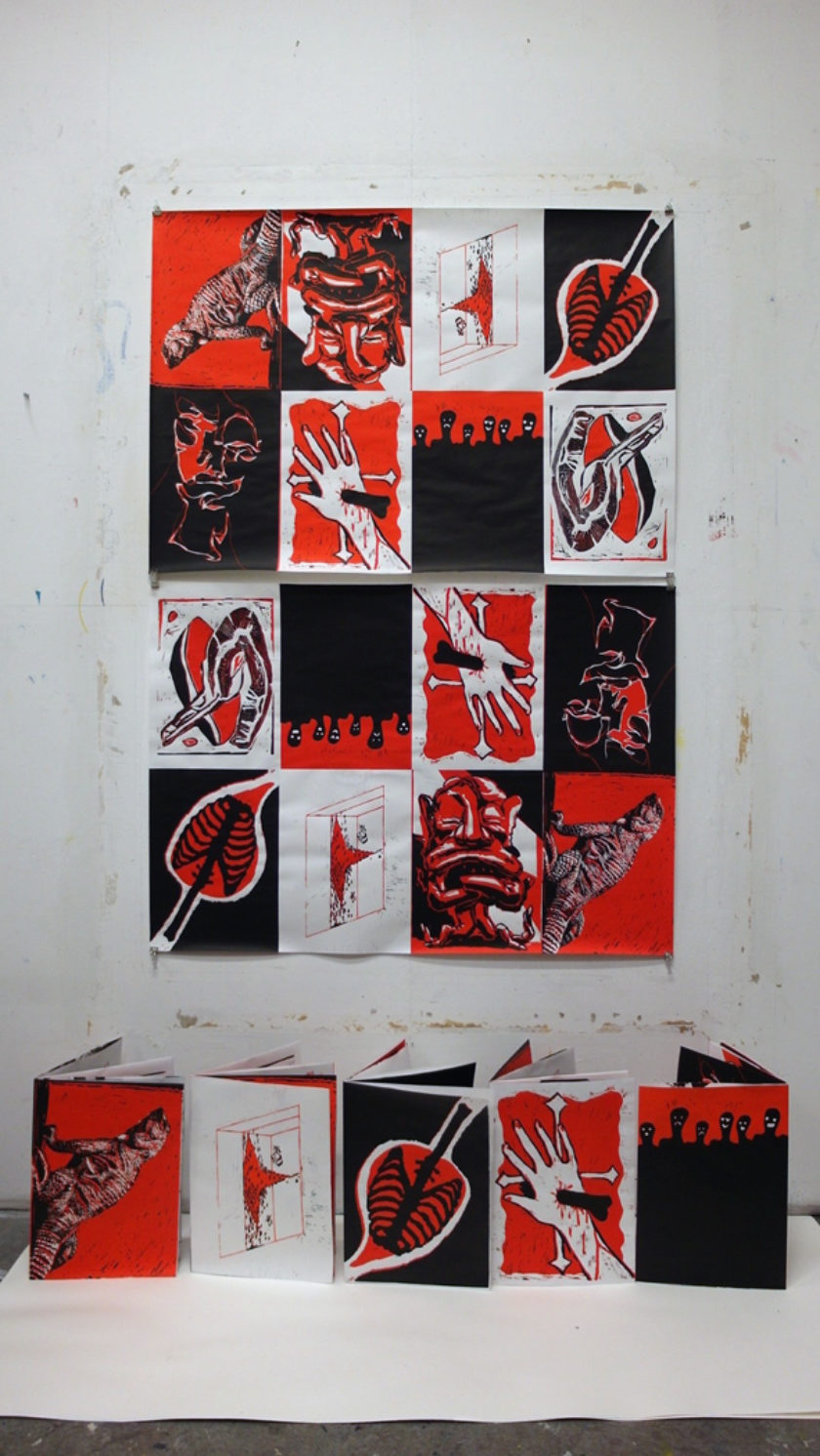 posters by KABK Fine Arts students for the OVERPRINT expo