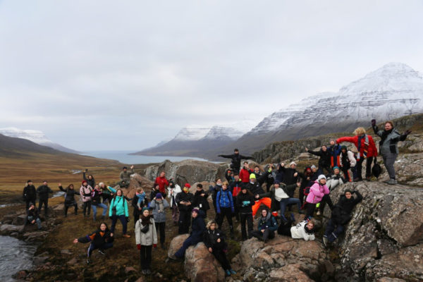 Field trip of KABK Graphic Design students in Iceland