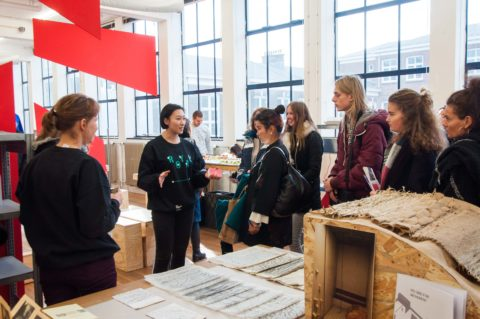KABK Open Day visitors at the Interior Architecture & Furniture Design department (Open Day 2017)