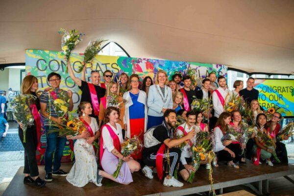 Groepsfoto winnaars Graduation 2019 Awards