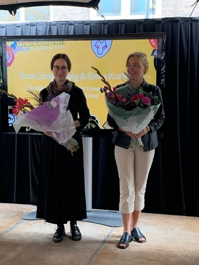 Elena Kostenko and Rosa Zangenberg. the first Double Degree graduates