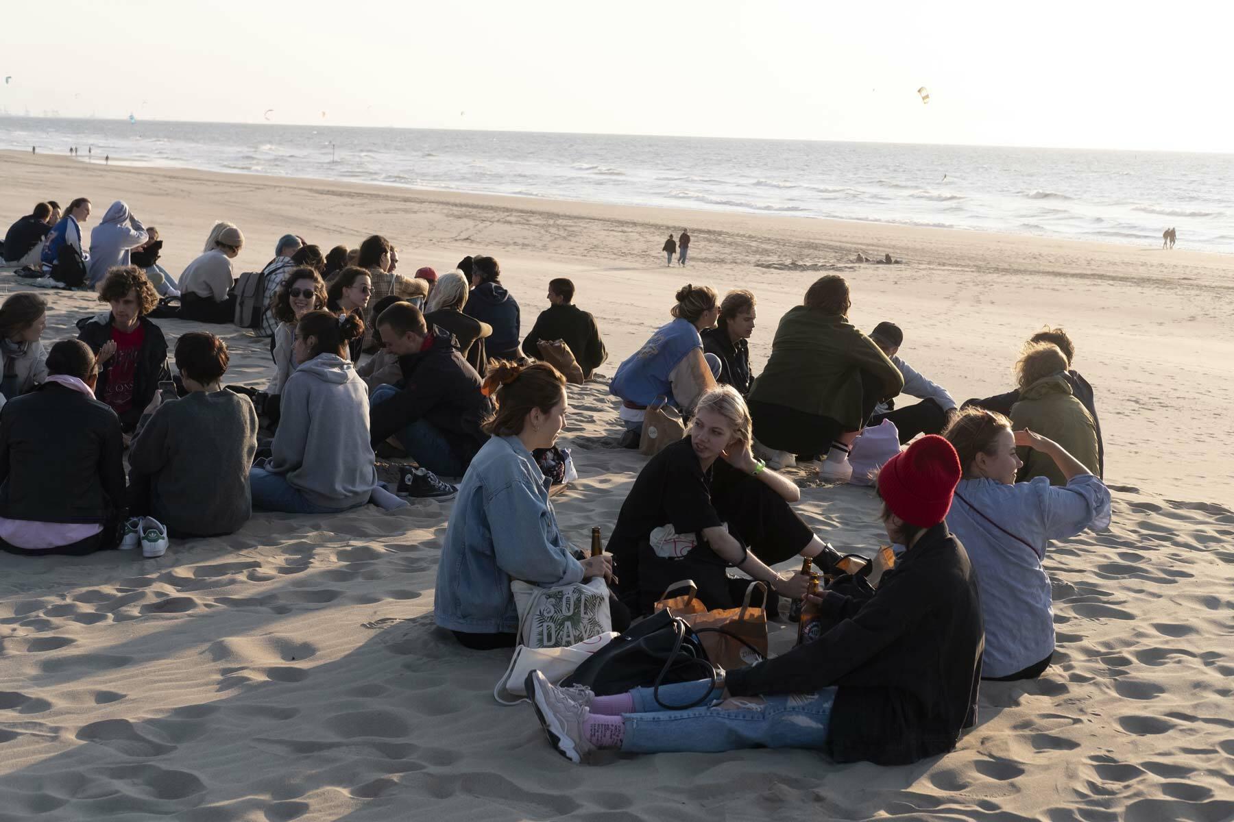 KABK intro days 2021 - at the beach Scheveningen