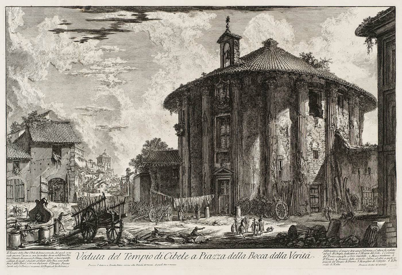 Veduta del Tempio de Cibele, Vedute di Roma by Piranesi (collection KABK Library)