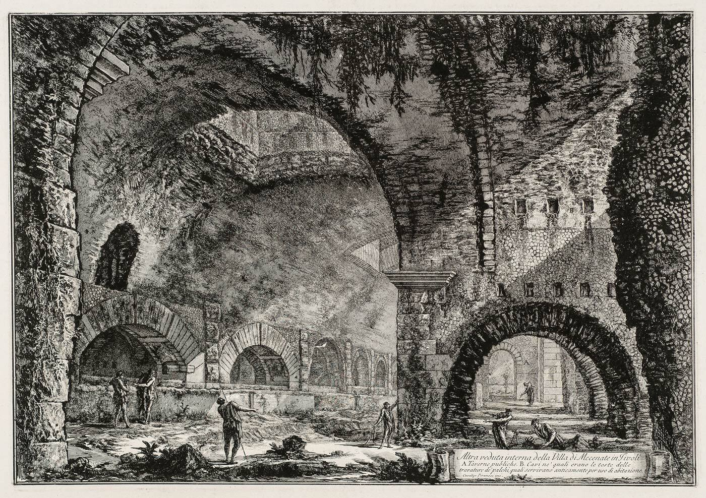 Altra Veduta interna della Villa di Mecenate in Tivoli, Vedute di Roma by Piranesi (collection KABK Library)