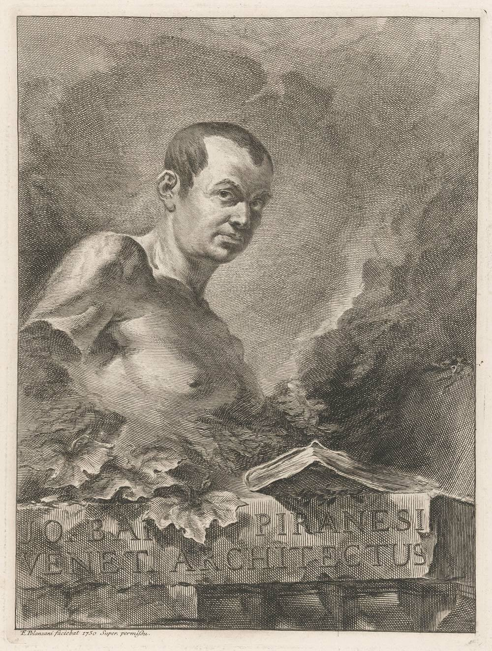 Portrait of Piranesi by F. Polanzani (1700-after 1771) (Collection Rijksmuseum Amsterdam)