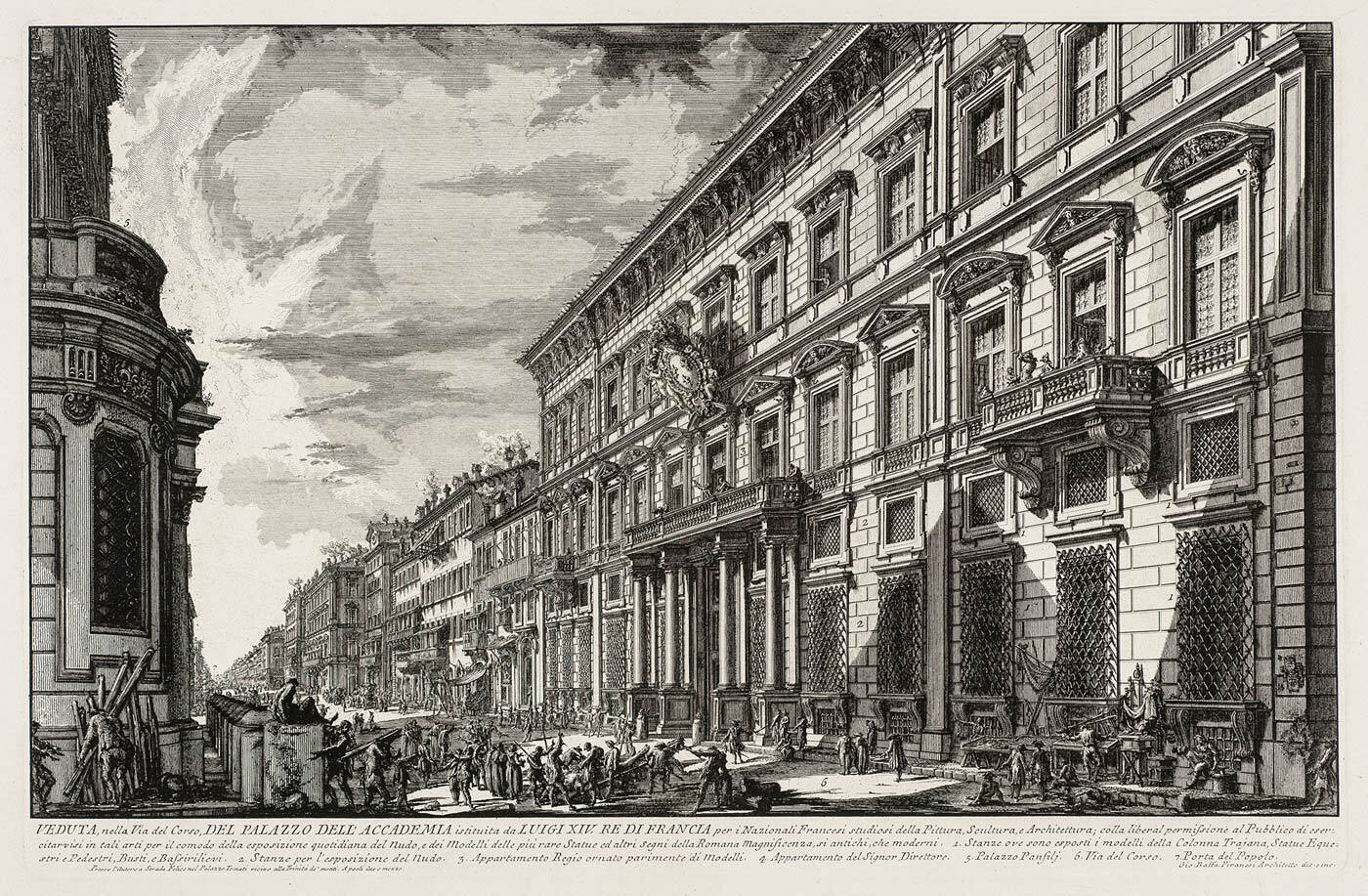 Palazzo Mancini, French Academy, Vedute di Roma by Piranesi (collection KABK Library)