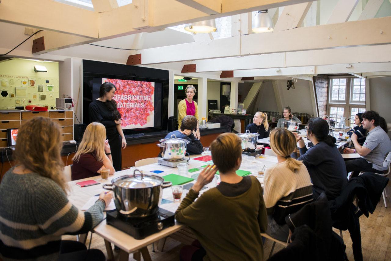 BioPlastics workshop at the Waag - TextileLab