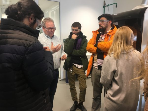 MID students on a tour of the 3D printing facilities at Brightlands