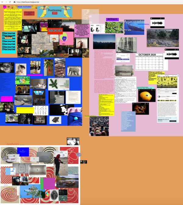 screenshot MAR website Covid-19 and Artistic Research from the Future