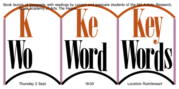 Key Words book launch by MA Artistic Research