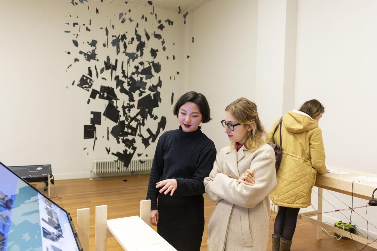 opening van de tentoonstelling 'Views from above' op de KABK