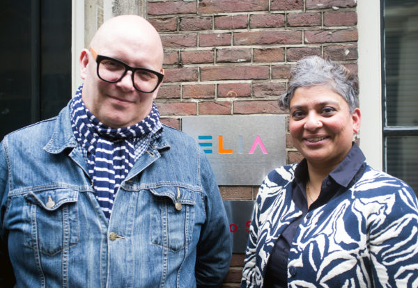 Initiators of ELIA's new Internationalisation Platform: Aparajita Dutta from the Royal Academy of Art The, Hague and Thomas Greenough from Glasgow School of Art