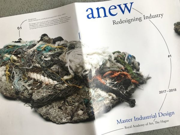 Publication cover anew by Master Industrial Design at the KABK