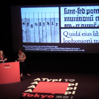 Reviving Type by Nóra Békés and Céline Hurka in AtypI conference, Tokyo