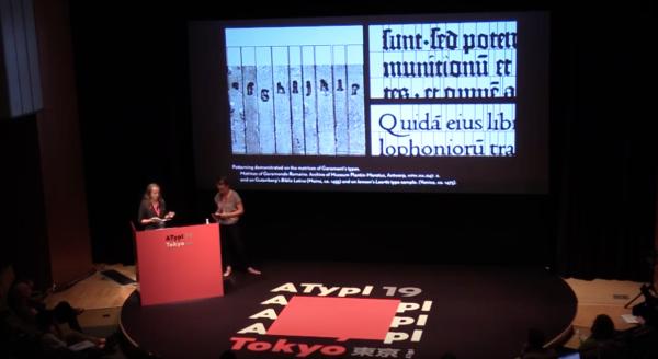 Presentation by Nora Bekes, Celine Hurka at ATypI 2019 Tokyo