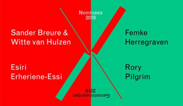 Prix de Rome 2019 genomineerden